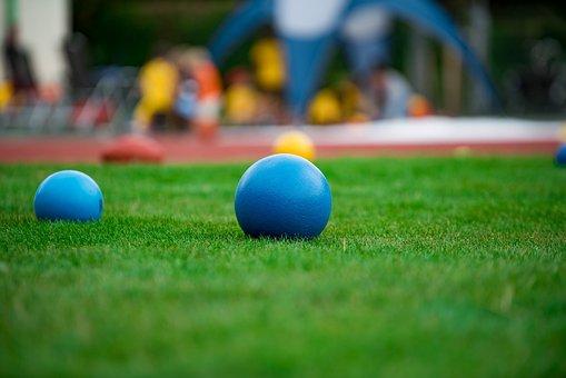 Handball, Boule, Sport, Grass, Jouer