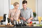 kobieta, kuchnia, człowiek