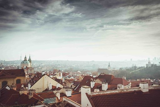 City, Sky, Clouds, Prague