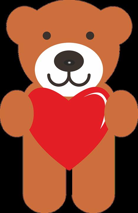 Teddy, Bear, Valentine, Love, Cuddly Bear, 14, February