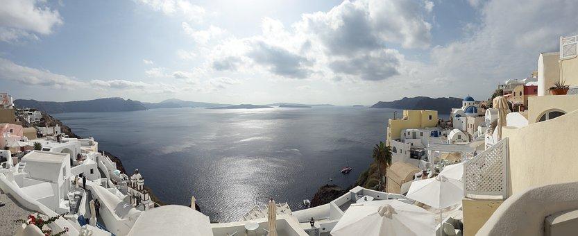 Greece, Santorini, Sea, Caldera, Holiday