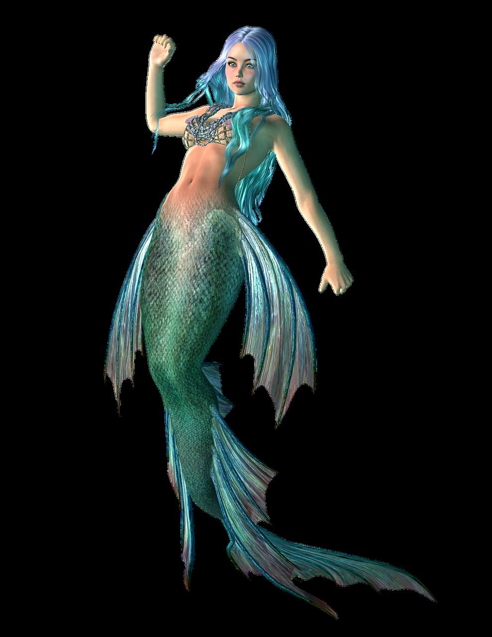 美人鱼,神话,女孩,海,仙女,故事,水下,水,女子,海洋,幻想,尾巴,鱼,游泳,字符,头发,传说,塞壬,可爱,童话,魔术,透明背景,给予,3d