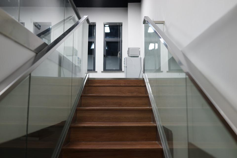 Stairs Glass Building Indoor
