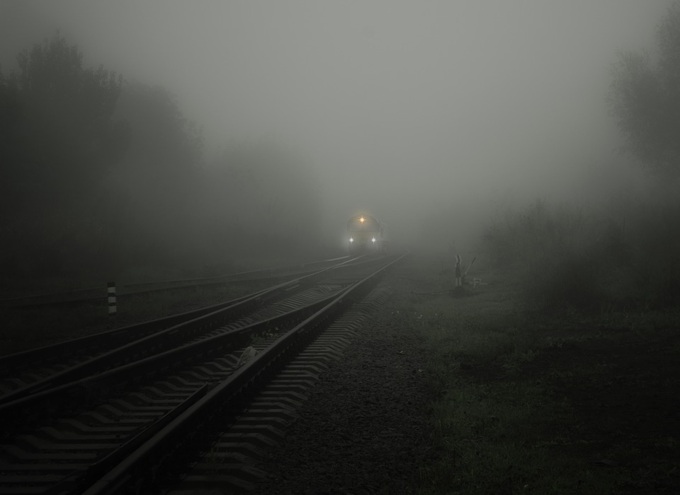 Fog, Train, Lights, Bill, Rails, Soft, Circuit