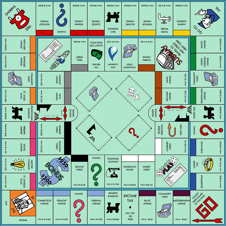 Monopoly, Game Board, Game, Fun, Finance, Business