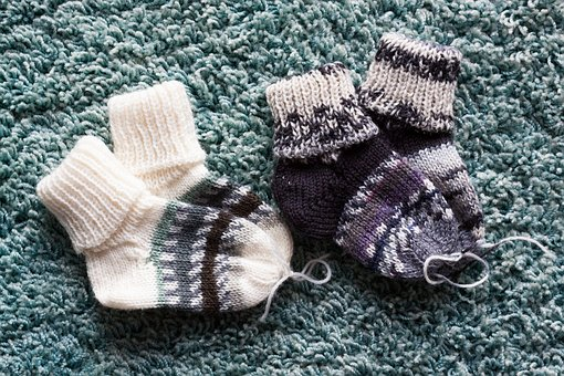 Sock, Knitted, Hand Labor, Baby, Birth