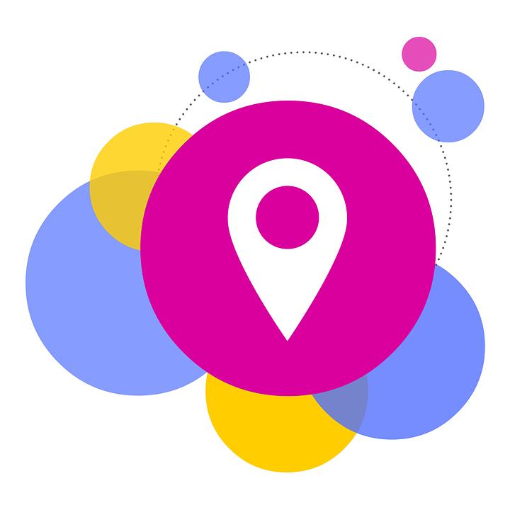 Ilustraci n gratis burbujas pasador localizador de for Localizador oficinas