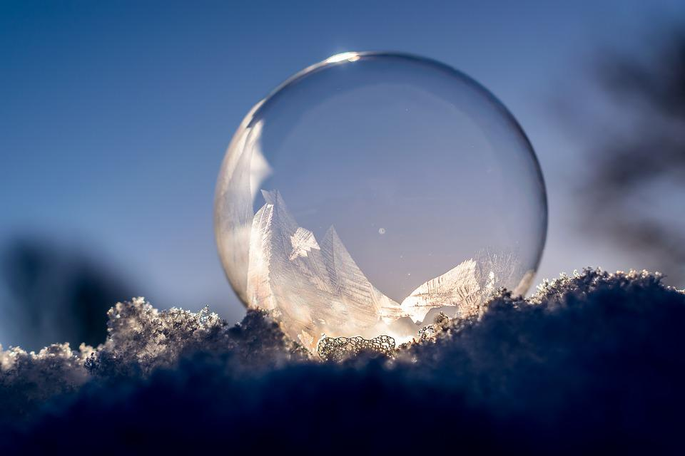 Free Photo Soap Bubble Frozen Frozen Bubble Free