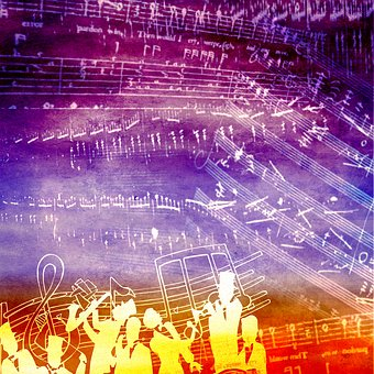 Background Scrapbooking Paper Music S