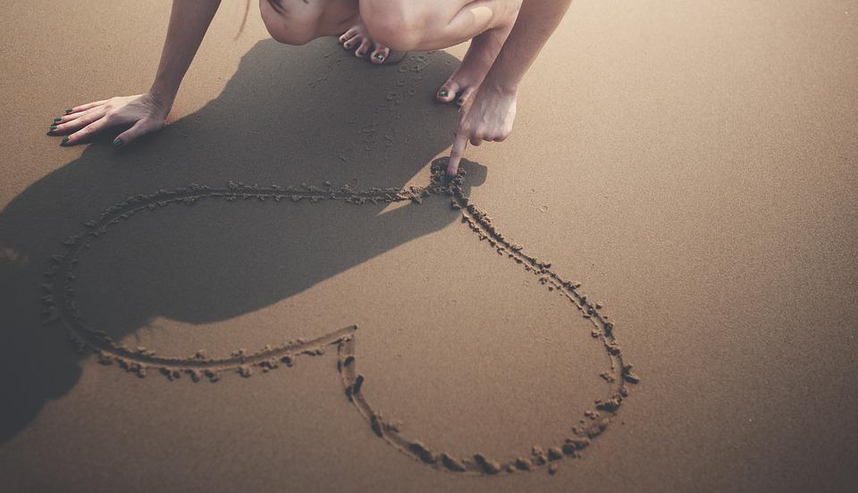 Corazón, Playa, Calma, Disfrute, La Felicidad