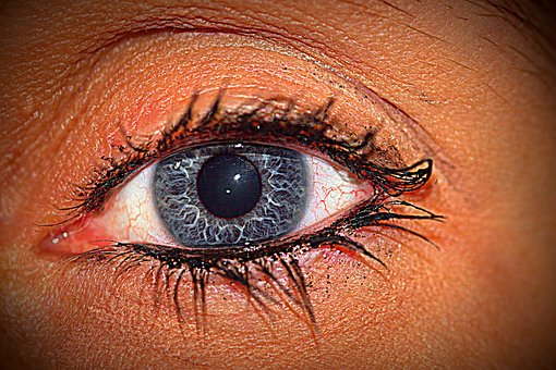 Eye, Blue, Eyelashes, Black Eye, View