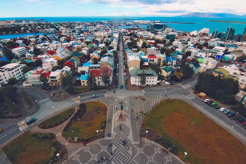 Reykjavik, Islande, Ville, Urbaines, L'Architecture