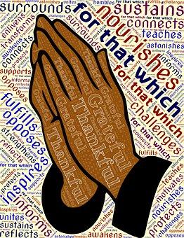 Pray, Hands, Grateful, Thankful