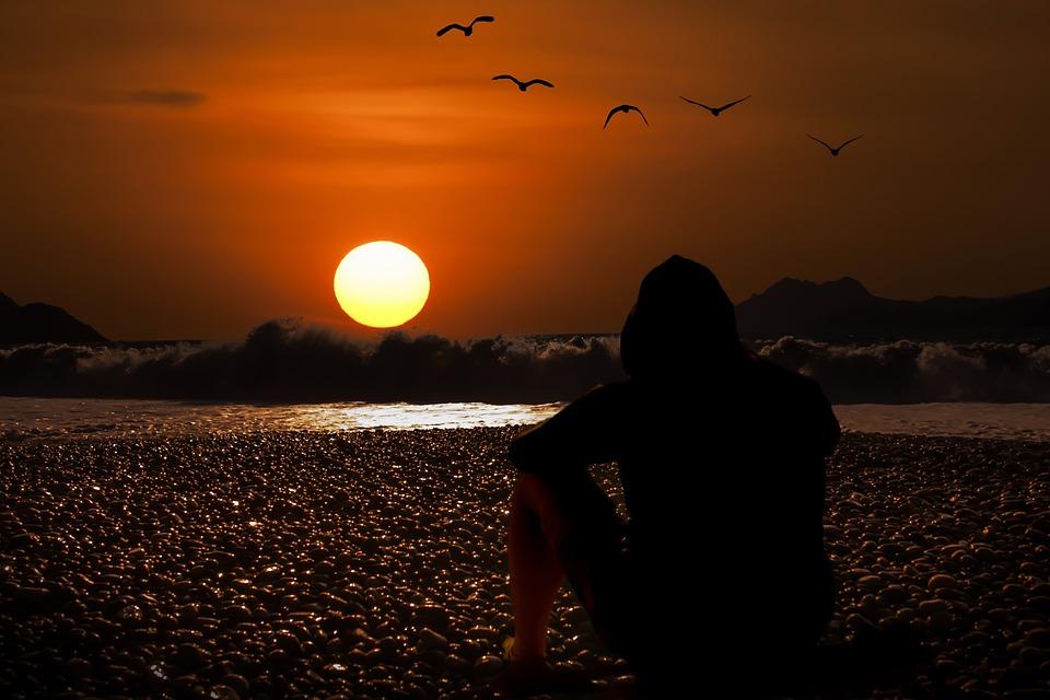 Sunset Evening Sky Beach - Free photo on Pixabay