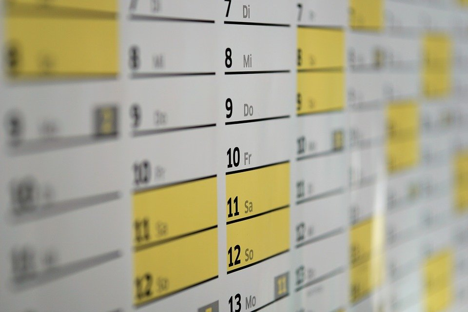 Calendar, Wall Calendar, Days, Date, Year, Time