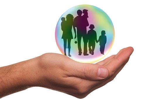 保険, 家族, 保護, 人, 親, 子供, 健康, セキュリティ