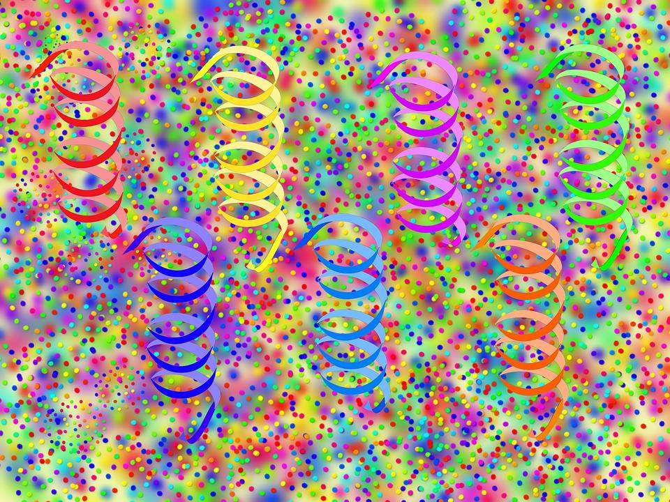 Confete, Flâmula, Rodeada, Carnaval, Colorido