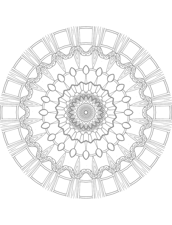 Mandala Coloring Page - Free Vector Graphic On Pixabay