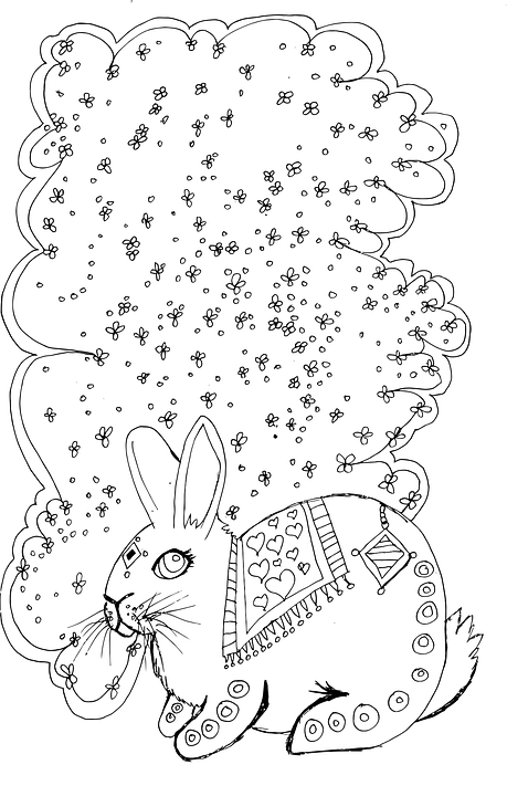 Free vector graphic Cat Coloring Page Detailed Silly
