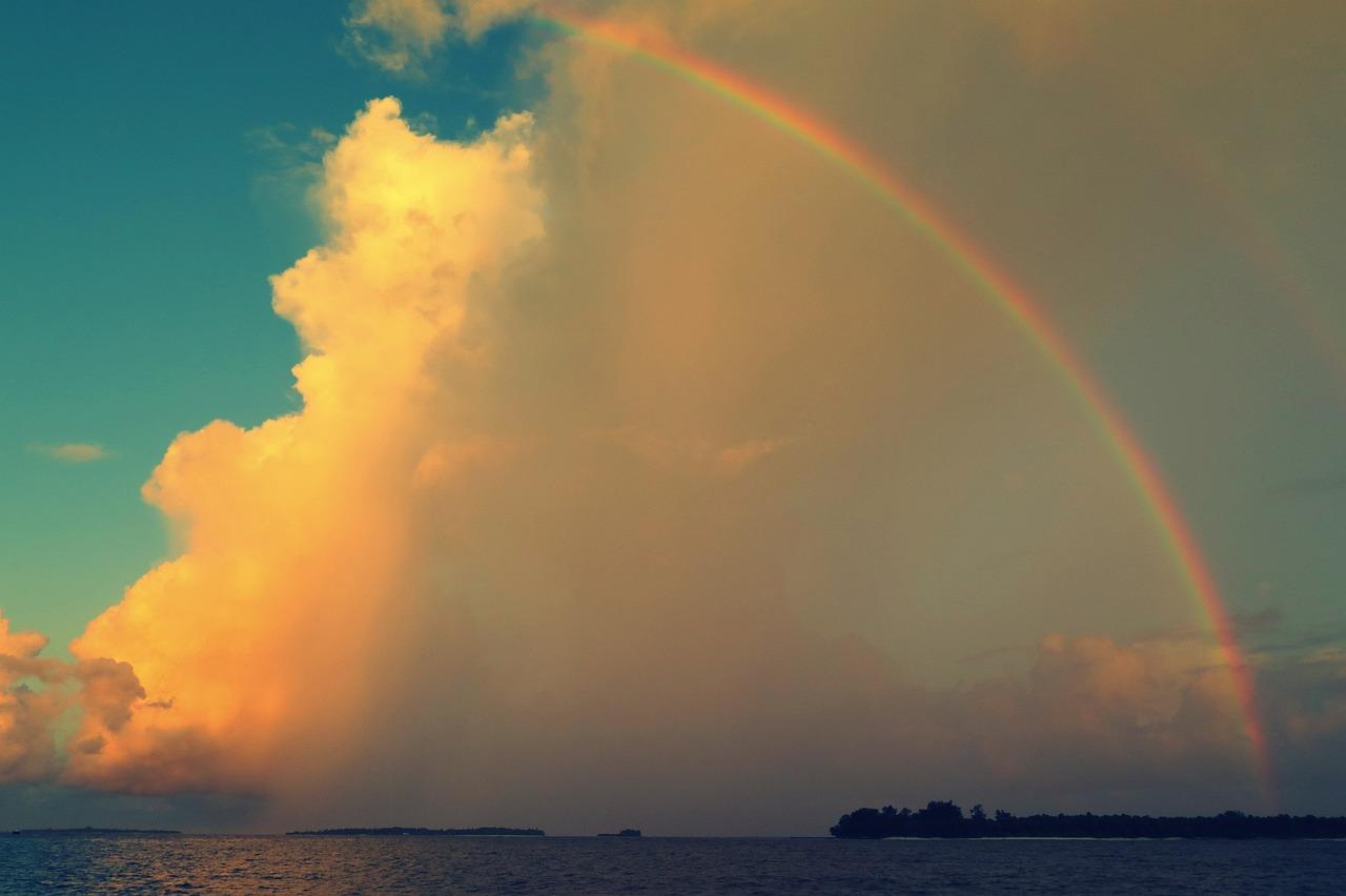 картинка радуга на небе и солнце бесплатный дизайн-проект купить