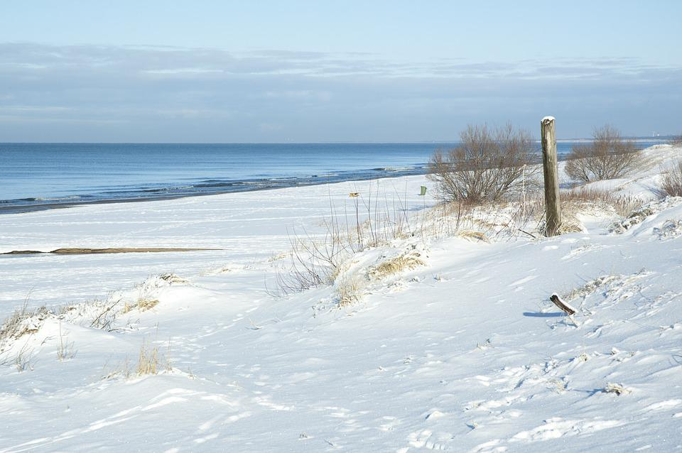 Free Photo Beach Snow Sea Winter Sunny Free Image On Pixabay 1991959
