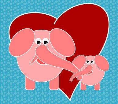 ゾウ, 動物, ジャングル, 自然, 愛, 感じ, 友情, 母と息子, 母