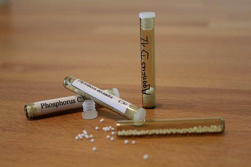 Homöopathie, Globuli, Röhrchen, Medizin