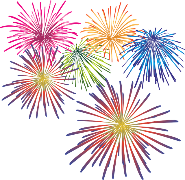 Feux D'Artifice Saint Sylvestre · Images vectorielles ...
