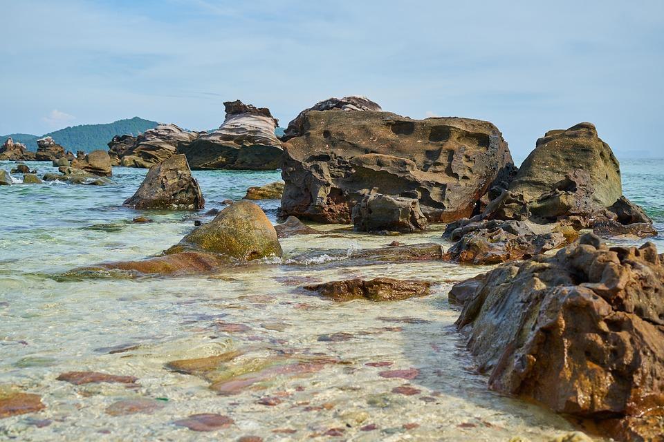 Natura, Vedere, Oceano, Thailandia, Asia, Rocce, Acqua