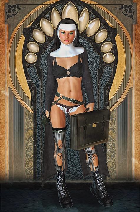 sexy nonne nackt