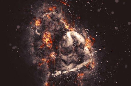 Bulb, Man, Ali, Fire, Muscular Body