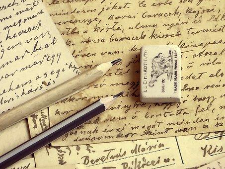 Fond, Crayon, Lettre, Écriture, Papier
