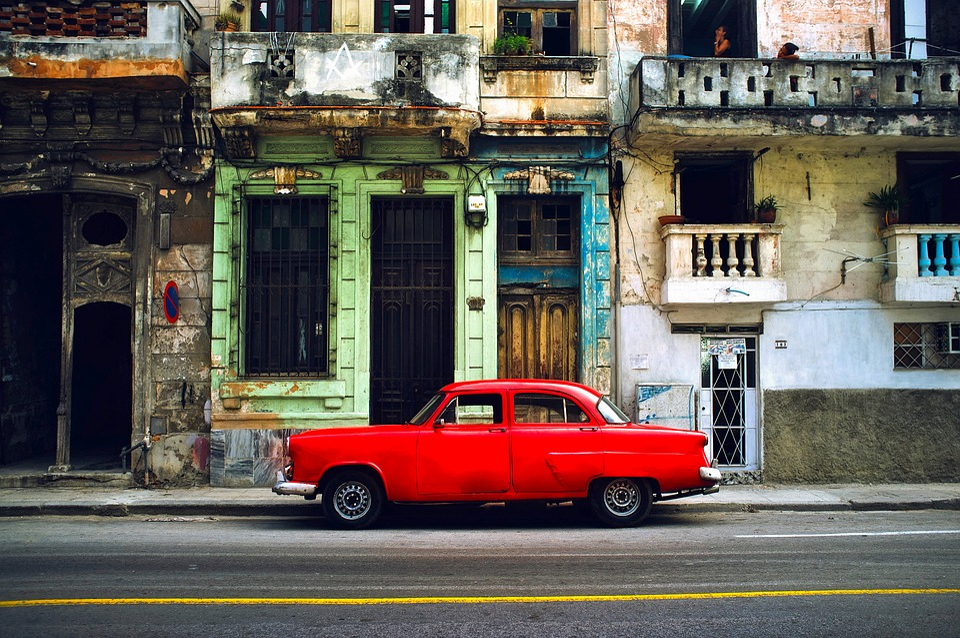 Hawana, Kuba, City, Miejskich, Budynków, Samochód
