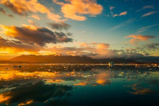 Iceland, Sky, Clouds, Beautiful, Sunrise