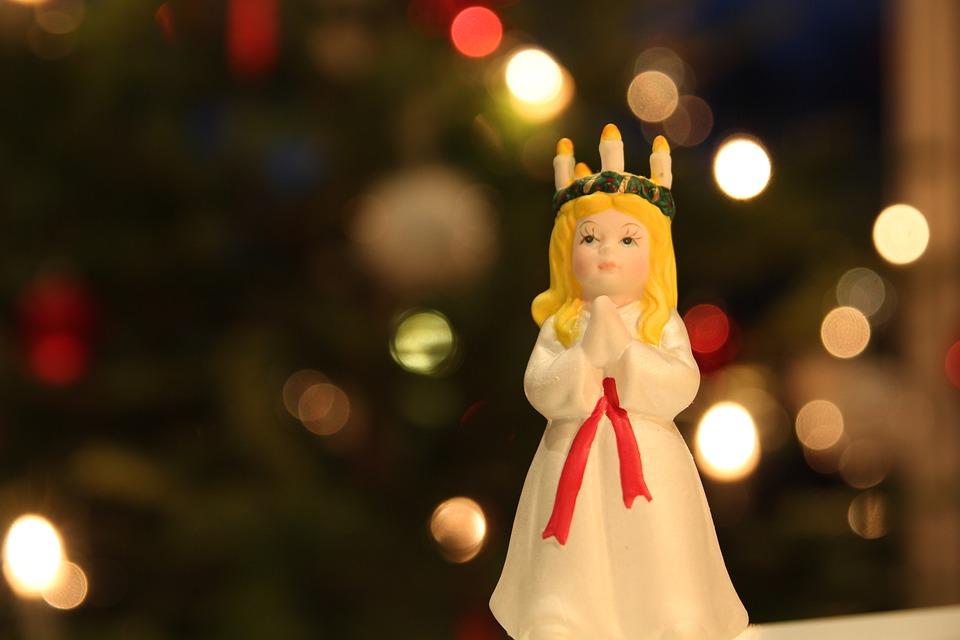 Lucia, Christmas, Julepynt, Ornament, Figur Servise