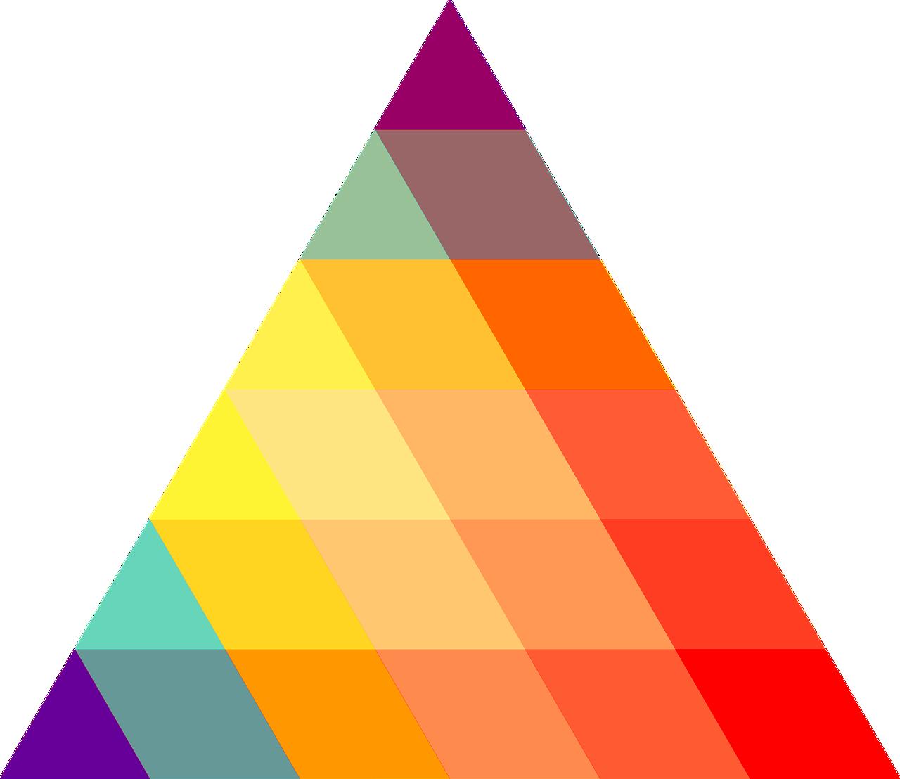 картинки цветных треугольников протяжение сотен