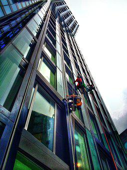 Skyscraper, Work, Window Cleaner