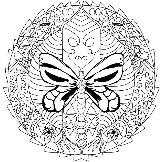 Mandala Coloring For Adults 183 Free Image On Pixabay