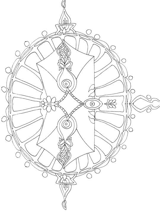 Mandala De Colorat Pentru Adulti Imagine Gratuită Pe Pixabay