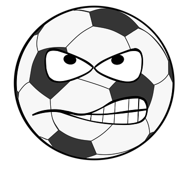 Football Clip Art Smiley Evil Flank S