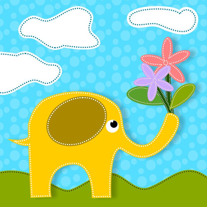 Elefanten Tiere Blumen · Kostenloses Bild auf Pixabay