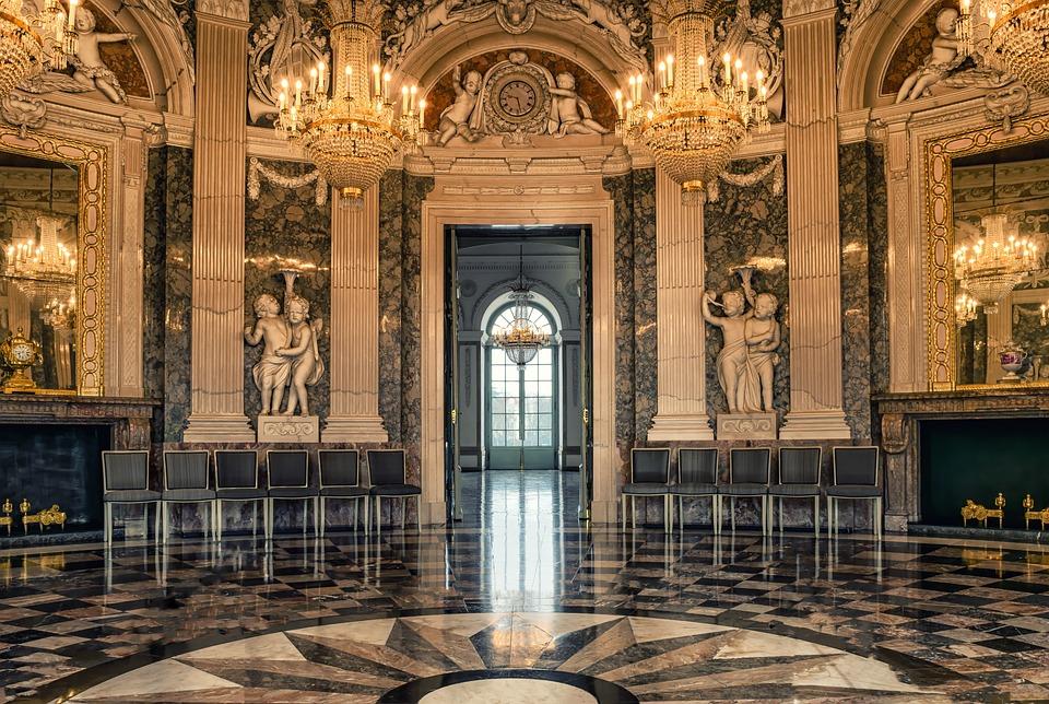 Define Foyer In Hotel : Hall castle ballroom · free photo on pixabay