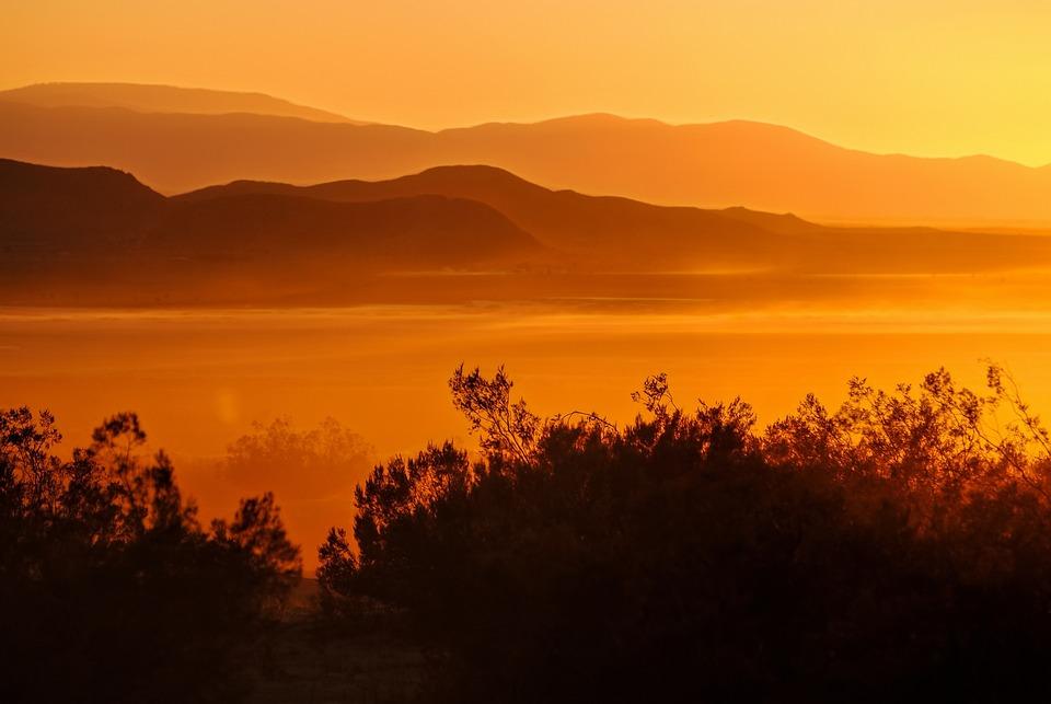 El Mirage Jeziora, Zachód Słońca, Iluzja, Pustynia
