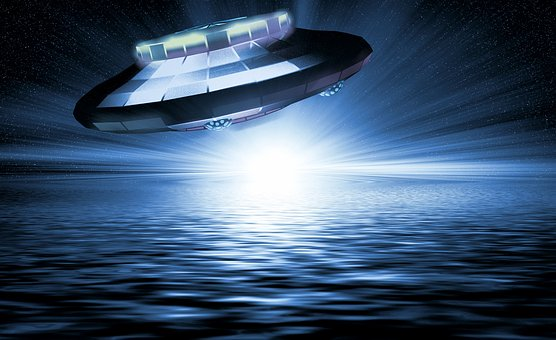 Ufo, Water, Forward, Wave, Spaceship