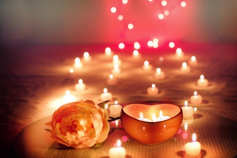 Très Photo gratuite: Bougies, Saint Valentin, Valentin - Image gratuite  PJ11