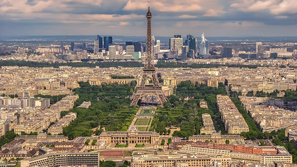 Eiffel Tower Paris City France Monuments P