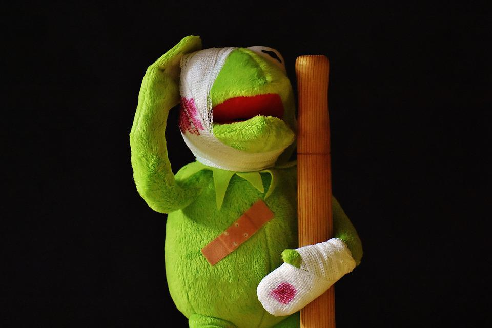 Kermit, Injured, Patch, Association, Injury, Blood