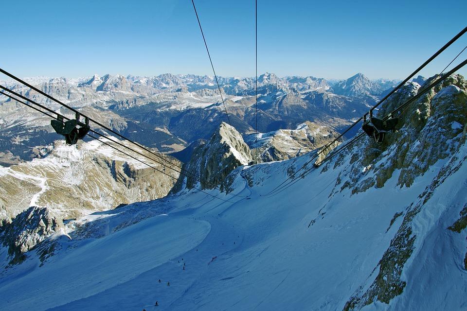 Gondola Marmolada, Dolomites, Marmolada, Italy