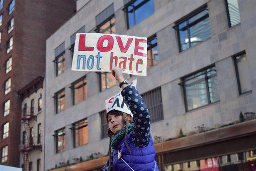Women'S March, Sign, Child, Political
