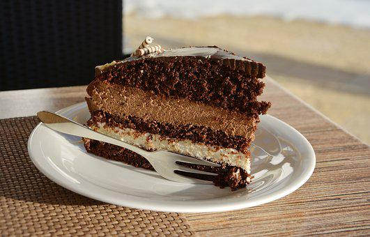 Cake, Chocolate Cake, Cafe, Bake